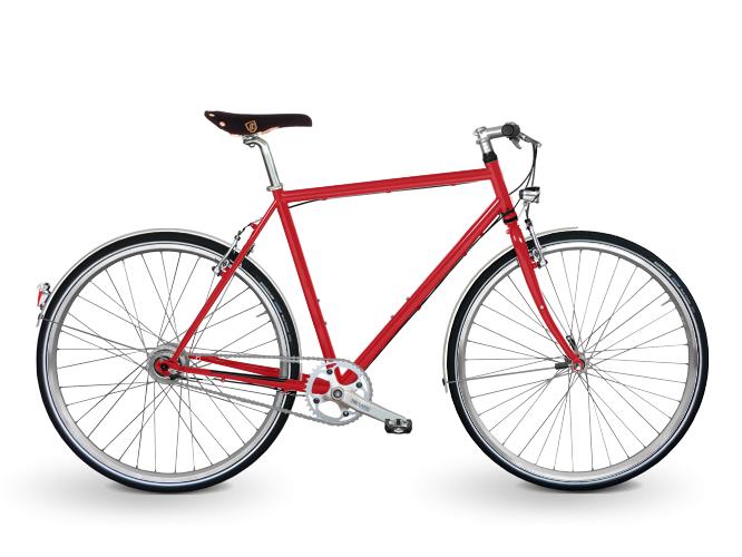 Citybike in rot für Herren von KreativRad