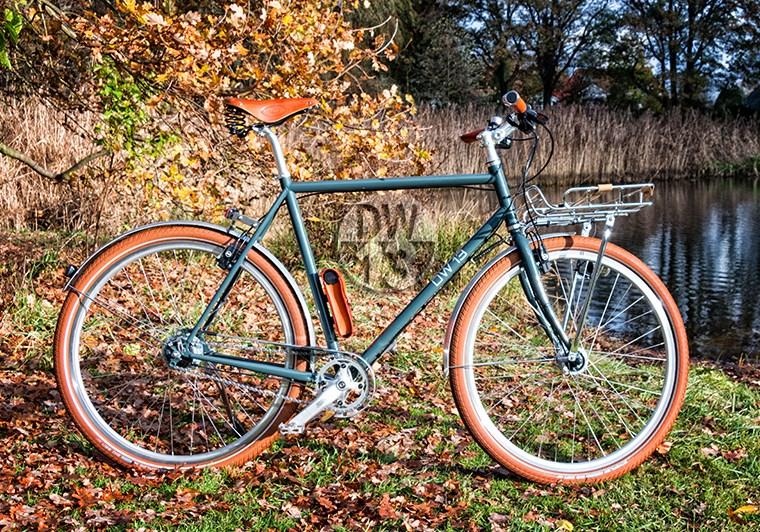 Blaues Herren Fahrrad in der Natur