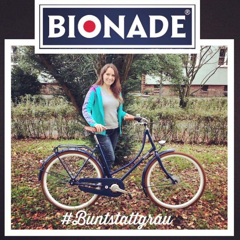 BIONADE Firmenfahrrad #BuntStattGrau