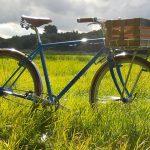 Das Fahrrad im Firmendesign