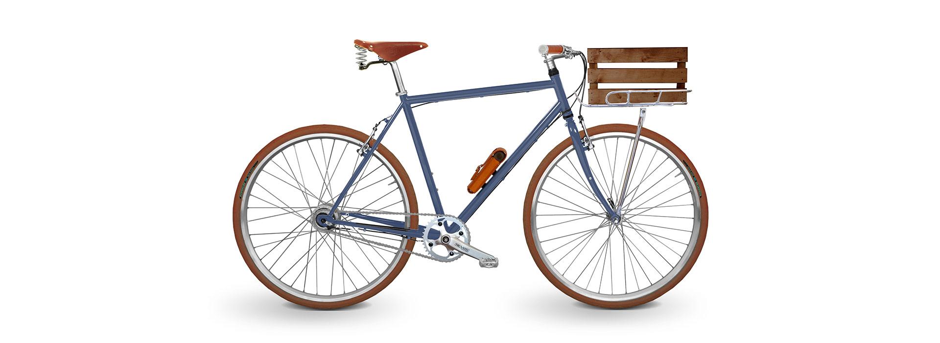 Citybike Herren blauer Rahmen