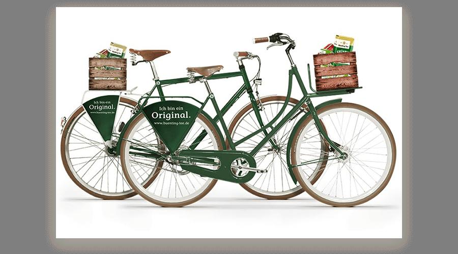 KreativRad x Bünting Tee fertige Fahrräder