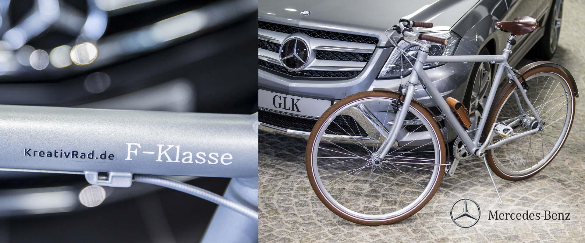 Messefahrrad für Mercedes Benz