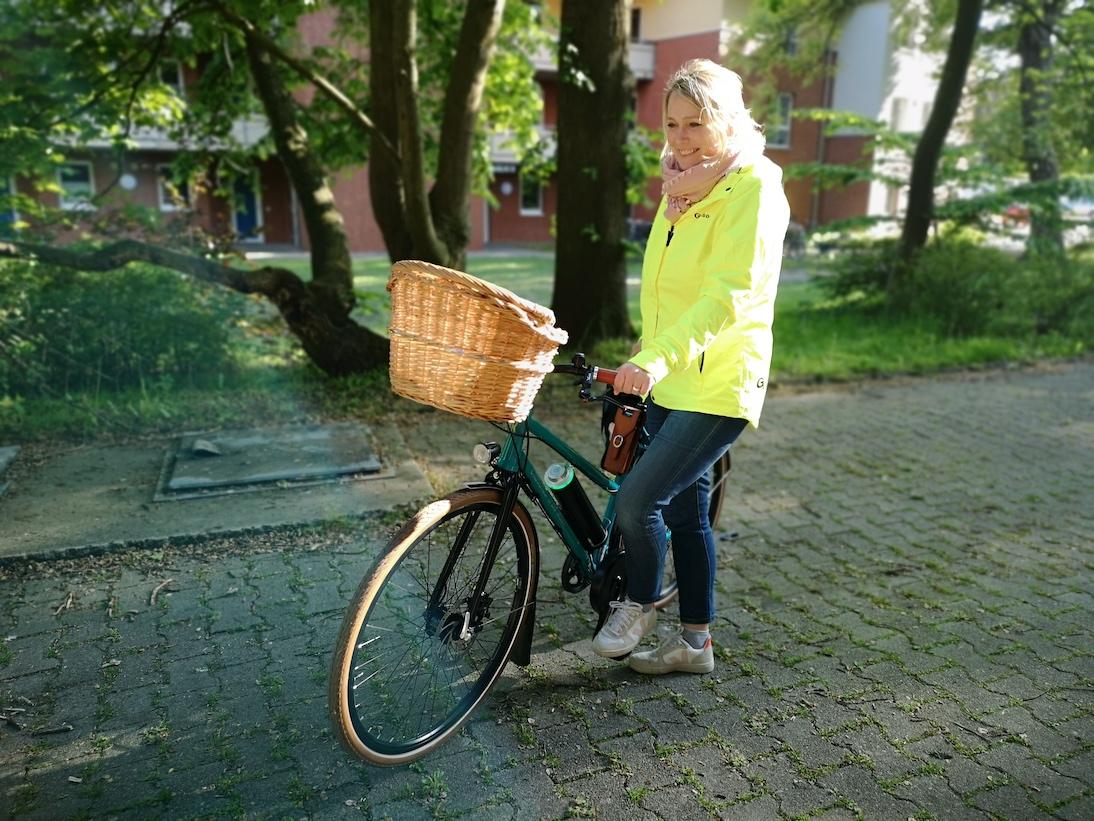 Stahlrahmen E-Bike mit Pendix eDrive und Weidenkorb