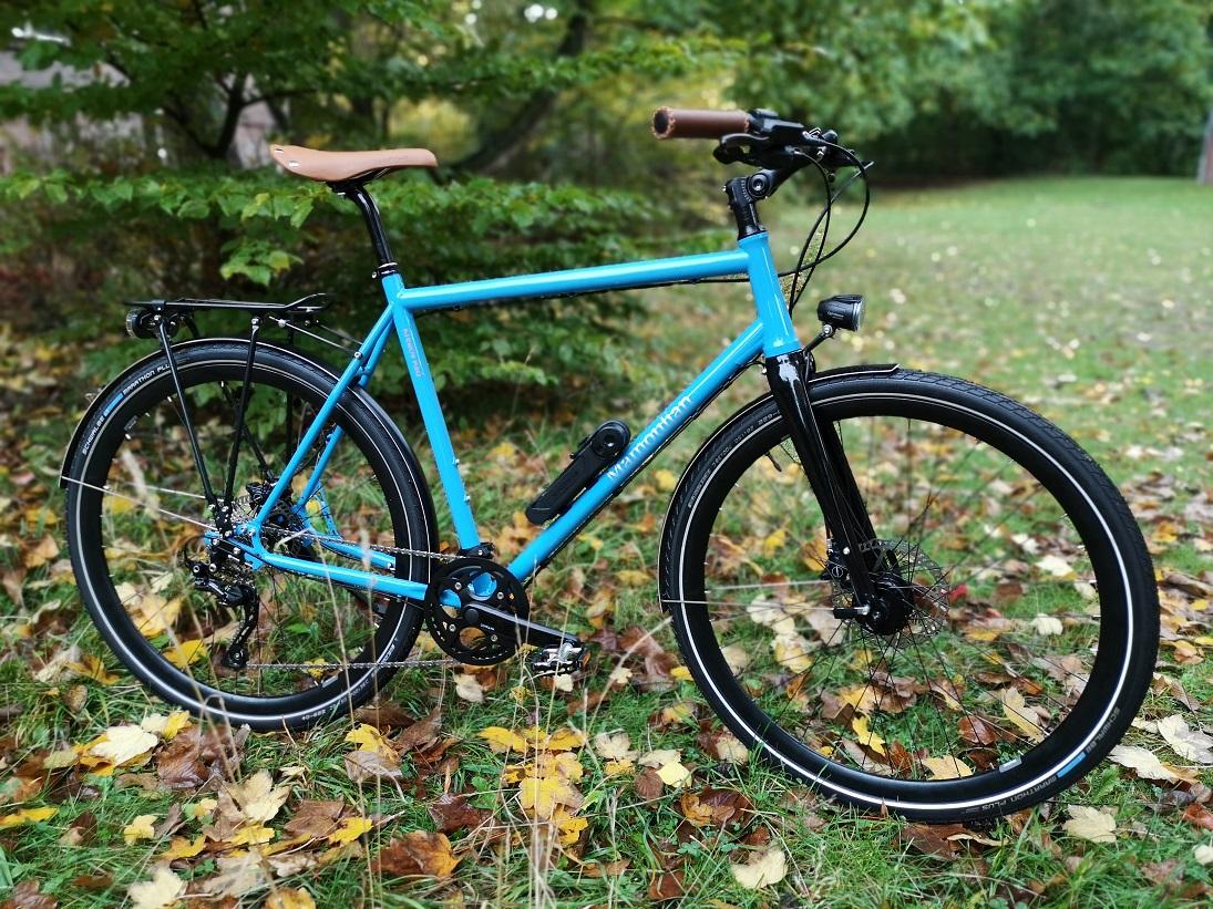 KreativRad PremiumRad Stahlrahmen Fahrrad Herren in Lichtblau RAL 5012