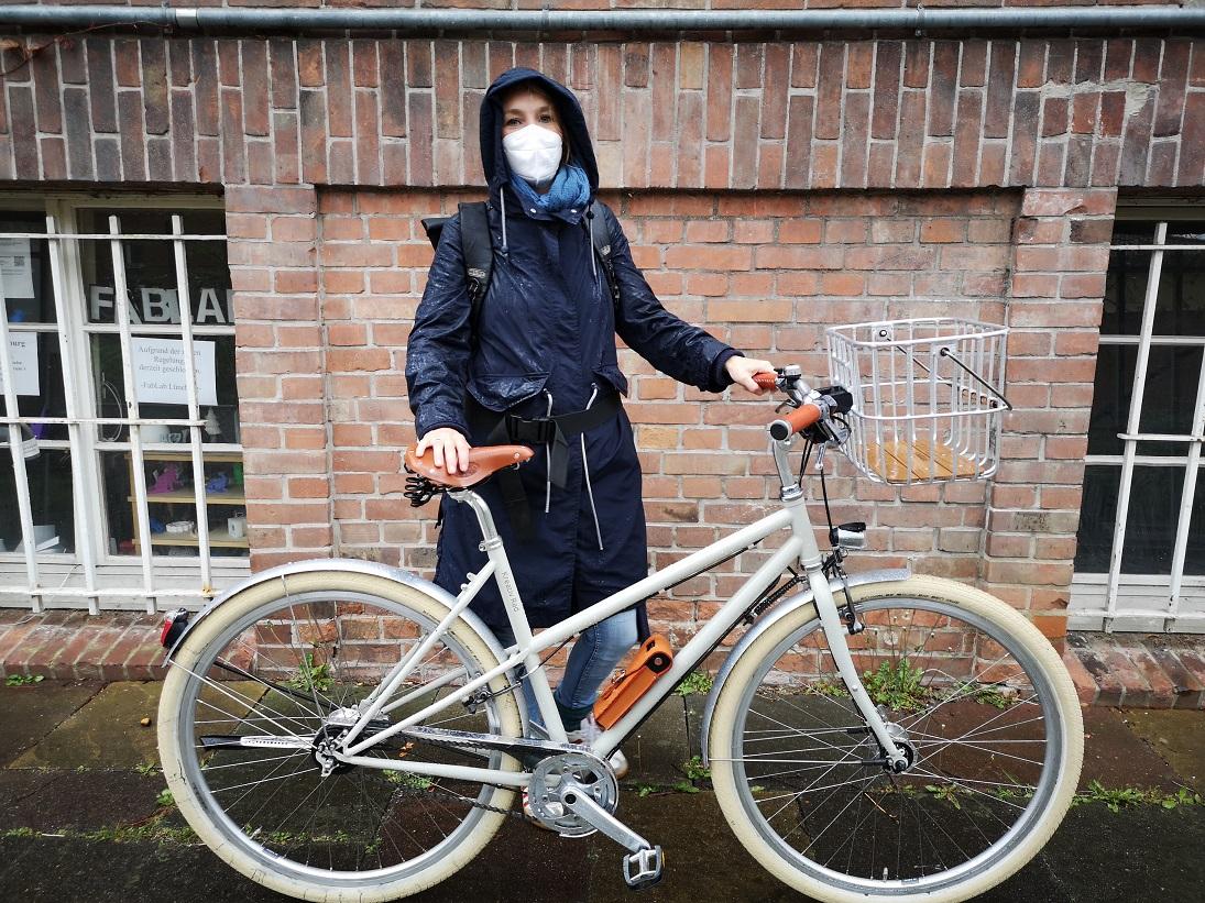 Stahlrahmen Fahrrad von KreativRad in Kieselgrau RAL 7032